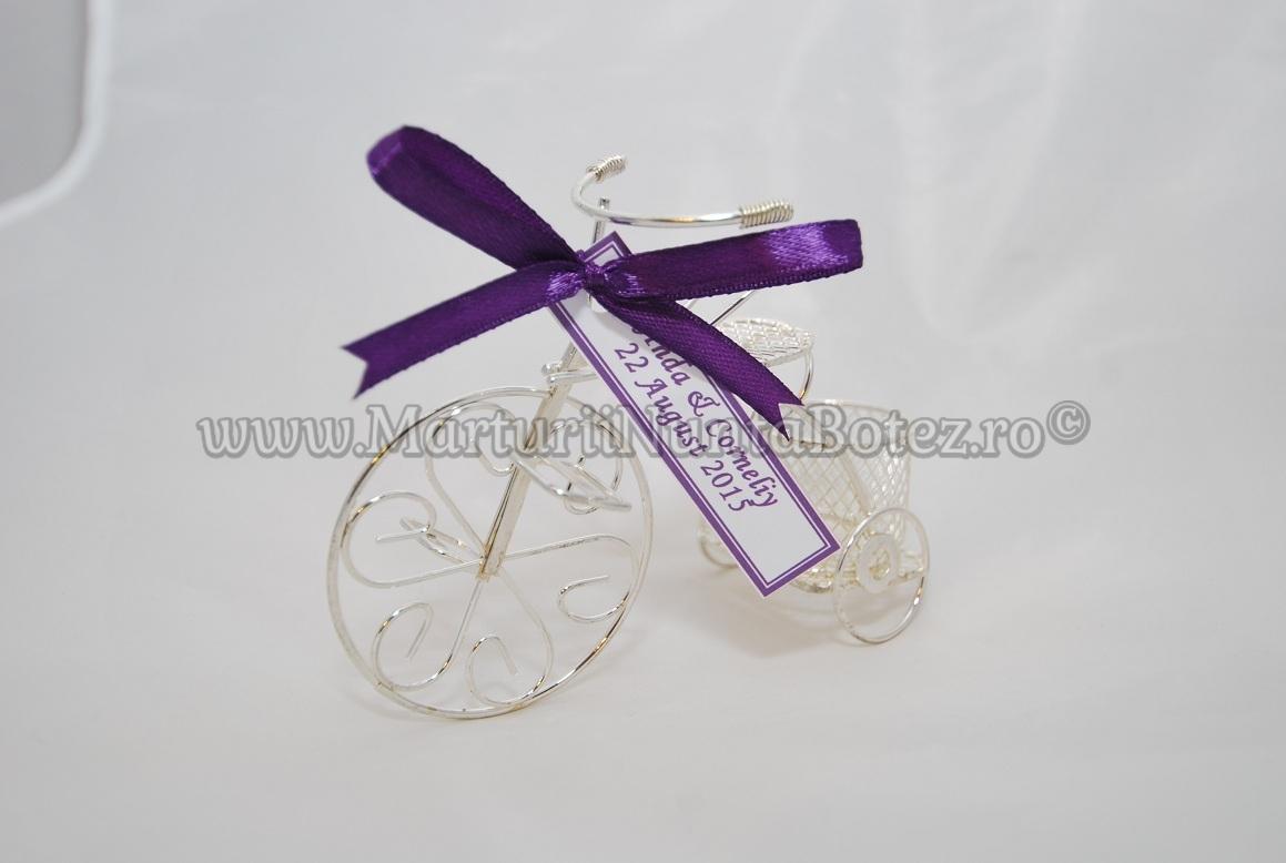 Marturie_nunta_bi cicleta_metalica_argintie_model_deosebit1