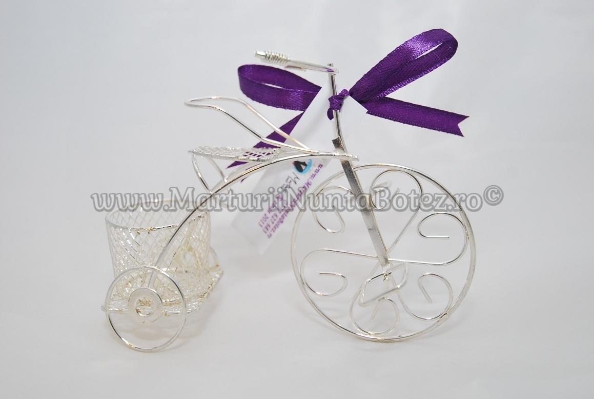Marturie_nunta_bi cicleta_metalica_argintie_model_deosebit3