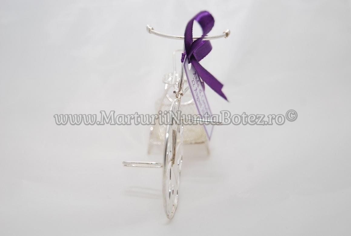 Marturie_nunta_bi cicleta_metalica_argintie_model_deosebit4