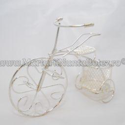 Marturie_nunta_bi cicleta_metalica_argintie_model_deosebit6