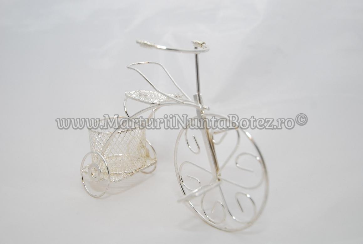 Marturie_nunta_bi cicleta_metalica_argintie_model_deosebit7